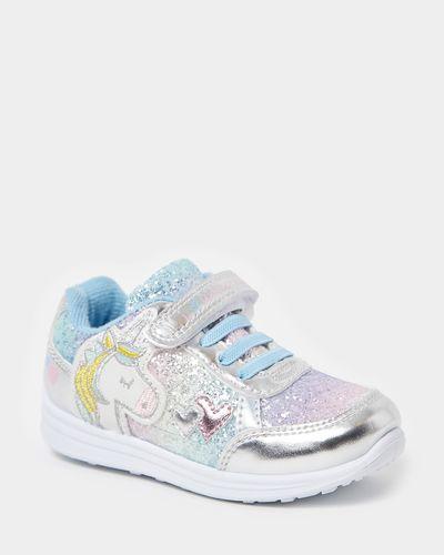 Younger Girls Unicorn Glitter Shoes