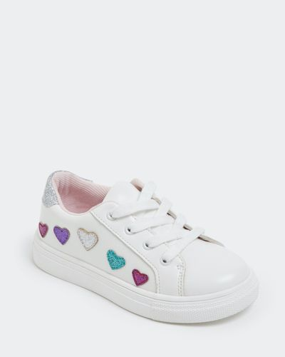 Girls Heart Lace Up Shoe