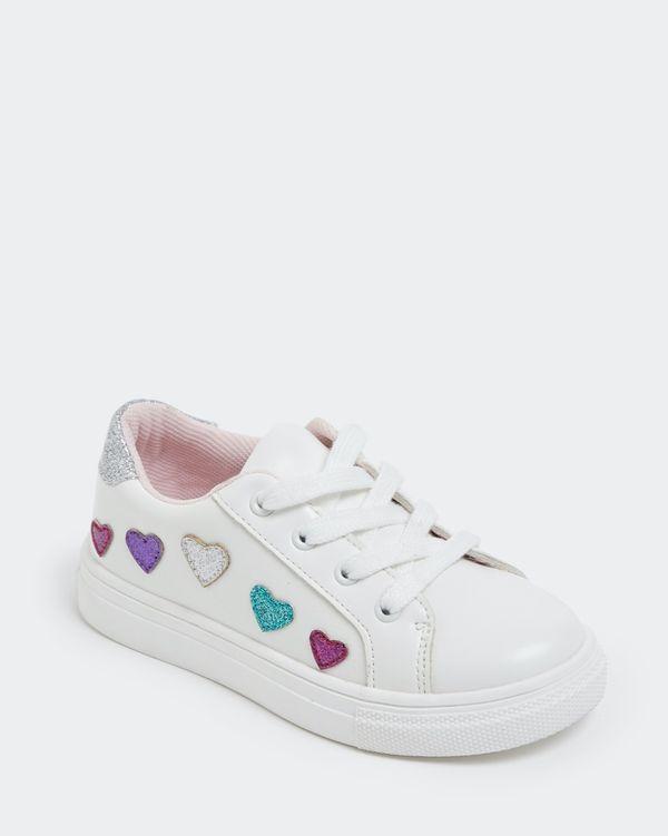 Girls Heart Lace Up Shoe (Size 8-2)