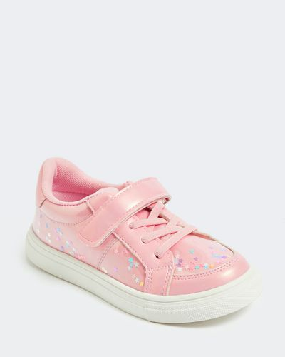 Younger Girls Encapsulated Glitter Trainer