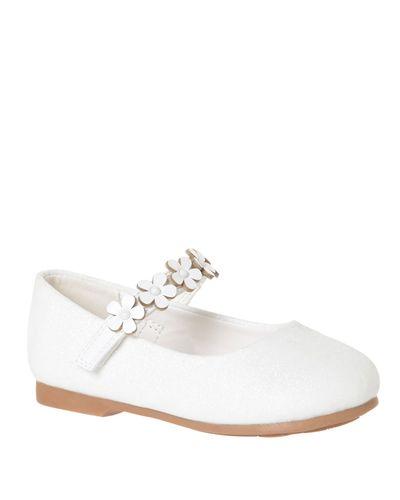 Bg Applique Strap Ballerina Shoe