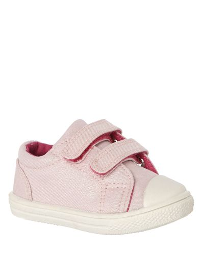 Baby Girls Two Strap Canvas Shoes