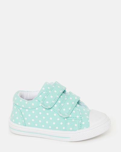 Baby Girls Mint Spot Strap Canvas Shoes