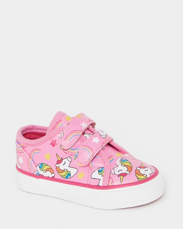 Baby Girls All-Over Print Unicorn Shoes