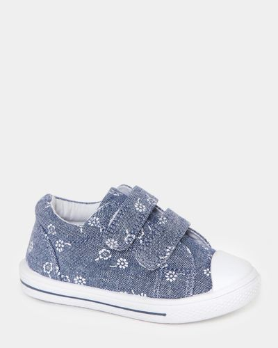 Baby Girls Strap Canvas Shoes