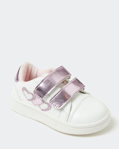 Baby Girls White Heart Trainer