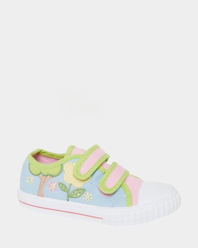 Baby Girls Embroidered Canvas Shoes