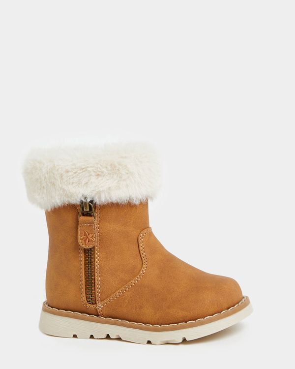 Baby Girls Faux Fur Top Boot