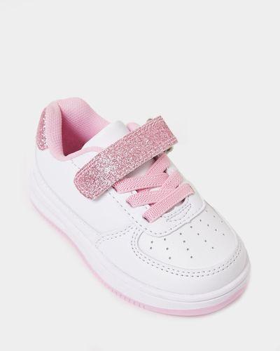 Baby Girls PU Trainer Shoe (Size 4-12)