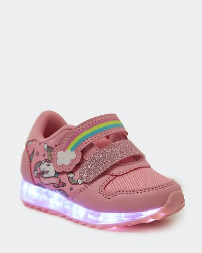 Baby Girls Light Up Trainer (Size 4-8)