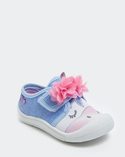 Baby Girls Unicorn Canvas Shoe