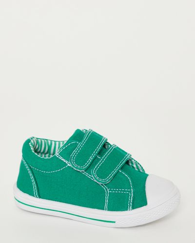 Baby Boys Green Strap Canvas Shoes