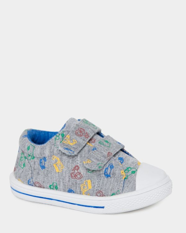 Baby Boys Print Strap Canvas Shoes