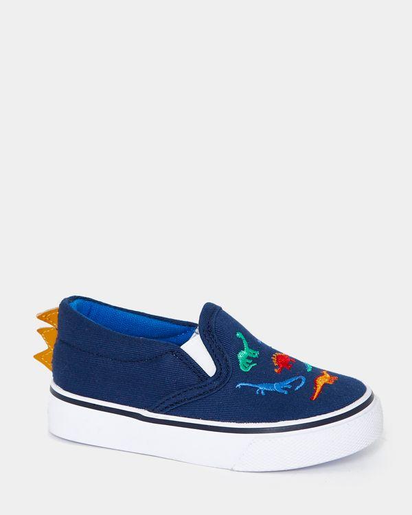 Baby Boys Dino Canvas Shoes