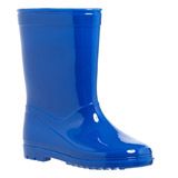 navy PVC Wellies