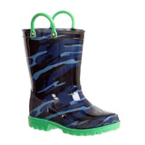 blue Printed Wellies