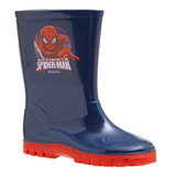 navy Spiderman Wellies