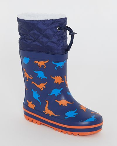 Boys Faux Fur Lined Wellies