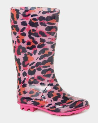Older Girls Leopard Wellies