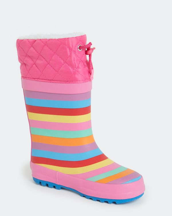 Girls Lined Wellie (Size 5-2)