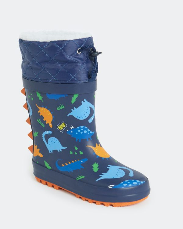 Boys Lined Wellie (Size 5-2)