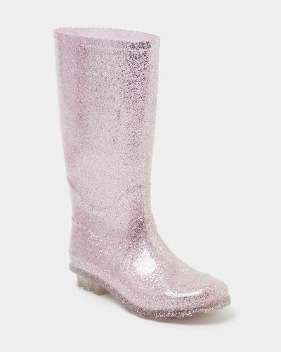 Girls Glitter Wellie (Size 13-5)