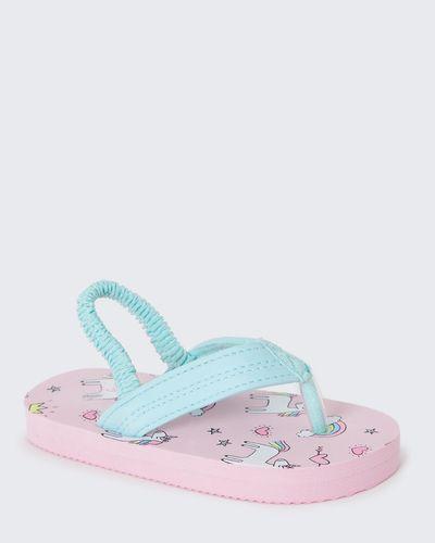 Younger Girls Unicorn Flip Flops