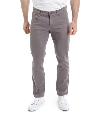 greyFive Pocket Slim Twill Trousers