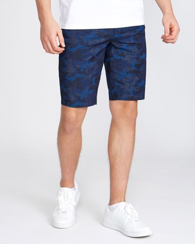 Slim Fit Printed Shorts With Stretch
