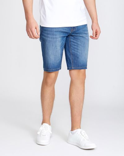 Slim Fit Stretch Denim Shorts