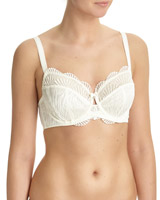 ivory Shell Embroidery Non-Pad Bra