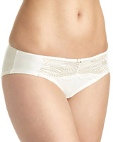 ivory Shell Embroidery Briefs