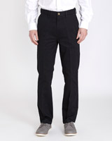 black Regular Fit Premium Stretch Chinos