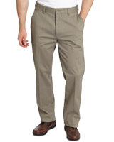 khaki Regular Fit Lightweight Stretch Chinos