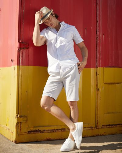 Regular Fit Stretch Chino Shorts