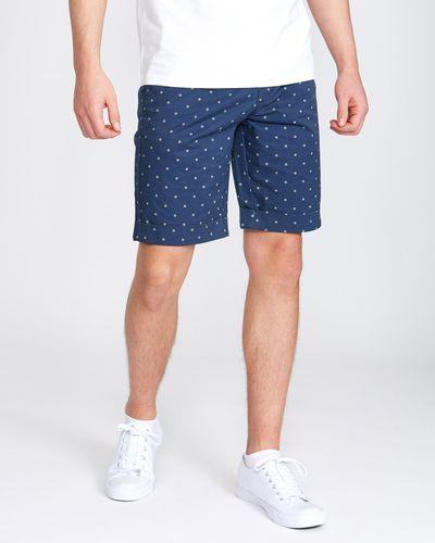 Regular Fit Stretch Printed Shorts