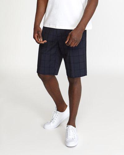 Regular Fit Check Stretch Shorts