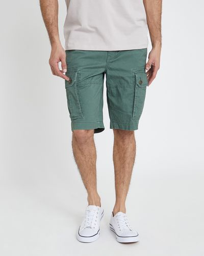 Printed Stretch Cargo Shorts