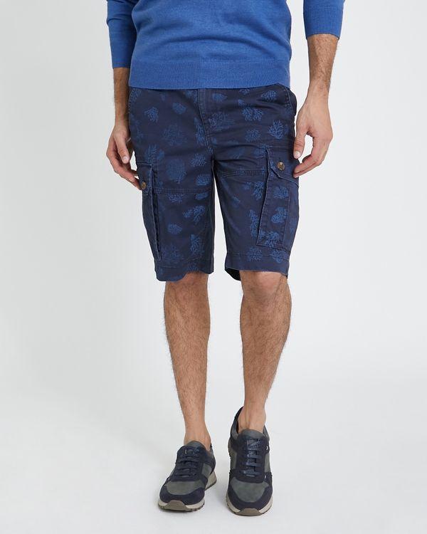 Printed Stretch Cargo Shorts