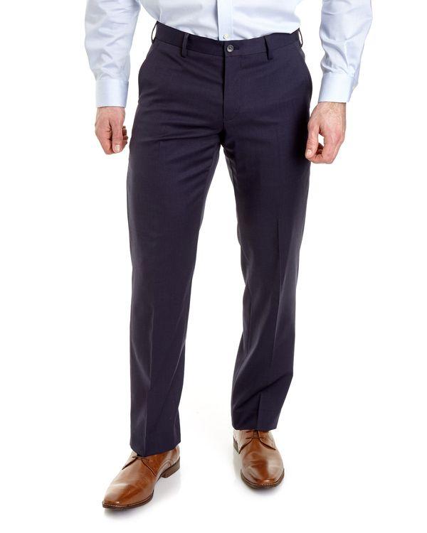 Regular Fit Wool Blend Trousers
