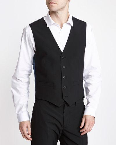 Black Slim Waiscoat