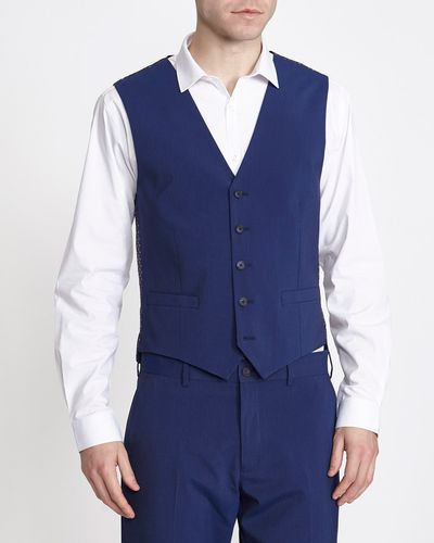 Blue Slim Waiscoat
