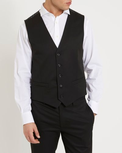 Black Slim Waistcoat