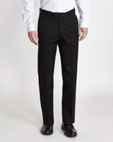 black Regular Fit Teflon Trousers