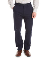 navy Straight Fit Stretch Chinos