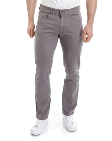 greyFive Pocket Twill Trousers