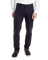navy Five Pocket Twill Trousers
