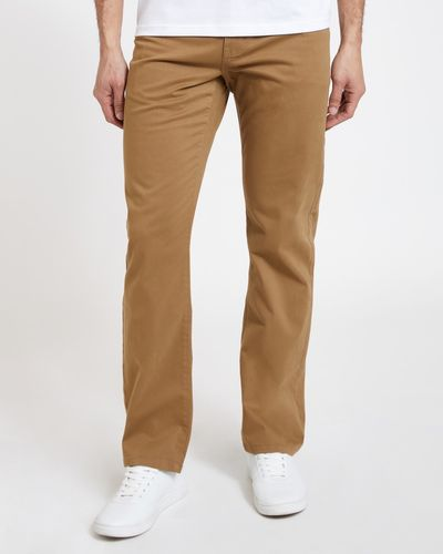 Straight Fit 5 Pocket Twill Trousers