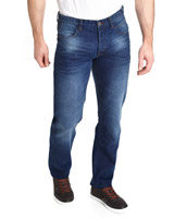 medium-denim Straight Fit Denim