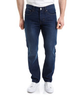 medium-denim Straight Fit Denim Jeans